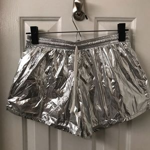 American Apparel Silver Lined Shorts